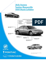 2001 Oldsmobile Aurora 2000 Pontiac Bonneville 2000 Buick Lesabre Collision Repair Manual