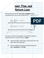 Power Flow and Return Loss