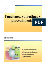 4.- Funciones. Subrutinas y Procedimientos