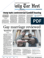 The Daily Tar Heel for March 27, 2013
