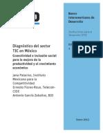 BID (2013) Diagnóstico TIC México, Conectividad e inclusión social
