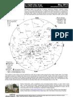 May 2013 night sky chart