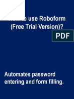 How to Use Roboform, a sample tutorial