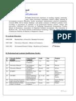 Munawar Hameed- Comprehensive CV