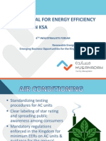 4th Industrialists Forum - The Potential for Energy Efficiency Solutions in KSA - 1215-1330