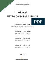 Alcatel Metro OMSN - Operator's Handbook