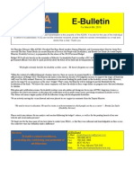 ADWA E-Bulletin for March 6th, 2013