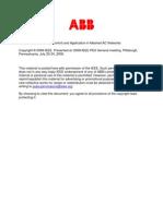 VSC-HVDC Control and Appl in Meshed AC - PESGM08 -1KKKK