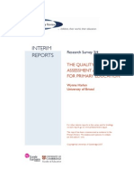 Primary Review Harlen 3-4 Report Quality of Learning - Assessment Alternatives 071102