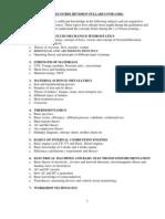 Precourse Revision Syllabus for Gmes