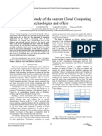 Comparitive Study of Various Cloud Computing Techniques