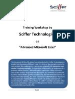 Sciffer Tech - Excel Training - Curriculum
