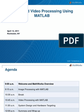 Image and Video Processing with MATLAB pdf | Matlab | Computer Vision