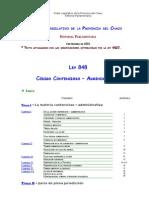 Ley 848 - Contencioso - Administrativo