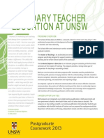 2 UNSWFASS PG Secondary Education 2013