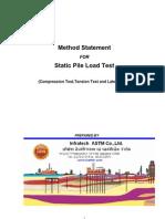 Method Statement Static Pile Load Test
