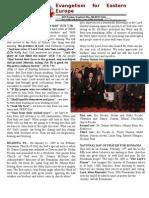 Newsletter- Evangelism for Eastern Europe.februarie09