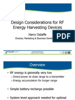 Design Considerations for RF Energy Harvesting Devices