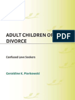 Geraldine K. Piorkowski Adult Children of Divorce Confused Love Seekers 2008