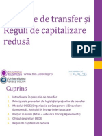 Preturile de Transfer Si Taxarea Internationala