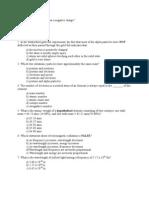Chemistry Quizs on Qunatm Mechanics