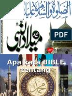 Apa Kata Bible Tentang Muhammad saw
