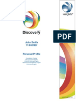 Sample Insights Discovery Personal Profile All Chapters