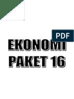 Soal Ekonomi Paket 16 (12 Lbr)