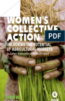 Women's Collective Action:  Unlocking the potential of agricultural markets