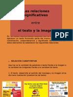 Relación entre texto e imagen.