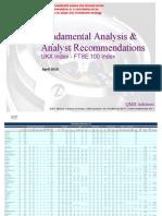 Fundamental Equity Analysis - FTSE 100 Index Members (UKX Index)