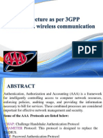 AAA architecture as per 3GPP standards in wireless communications