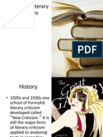 Formalist Literary Criticism