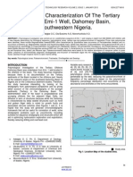 Palynological Characterization of the Tertiary Offshore Emi 1 Well Dahomey Basin Southwestern Nigeria.