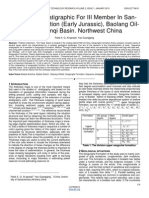 Sequence Stratigraphic for III Member in San Gonghe Formation Early Jurassic Baolang Oil Field Yanqi Basin. Northwest China