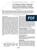 Internalization of Islamic Values in Shaping Consciousness Pai Anticorruption Through Curriculum Development in Secondary Schools