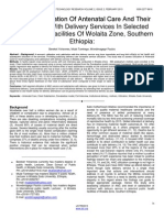 Mothers'-Utilization-Of-Antenatal-Care-And-Their-Satisfaction-With-Delivery-Services-In-Selected-Public-Health-Facilities-Of-Wolaita-Zone-Southern-Ethiopia