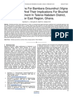 Storage Systems for Bambara Groundnut Vigna Subterranean and Their Implications for Bruchid Pest Management in Talensi Nabdam District Upper East Region Ghana.