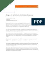 Origen de La Hidroelectricidad Guayana Diario Progreso