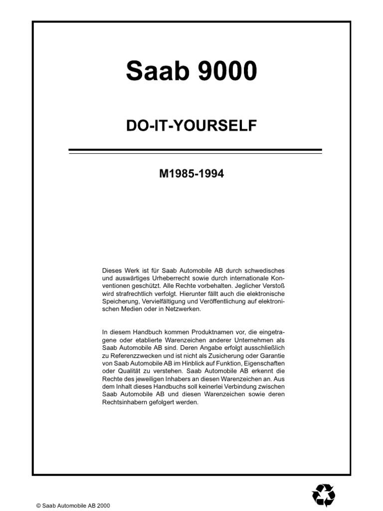 Schön Saab 900 Schaltplan Ideen - Die Besten Elektrischen Schaltplan ...