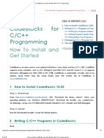 How to Install CodeBlocks and Get Started With C_C++ Programming
