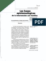 Bases Epistemologicas Para Trabajar Con Familia