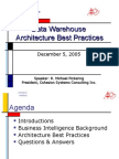 MIS Unit 5 DW Architecture Best Practices