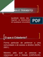 CIDADANIA E TRÂNSITO