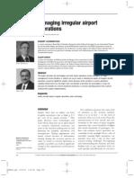 Managing Irregular Airport Operations