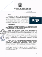 Resolución Administrativa N°202-2013