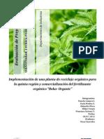 Informe Evaluación de Proyecto Planta de Reciclaje