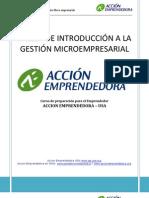 Curso Gestion a La Micro Empresa Accion Emprendedora USA