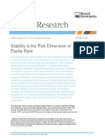 Stability is the Risk Dimension of Equity Style