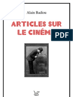 Badiou-Artic Sur Le Cinema